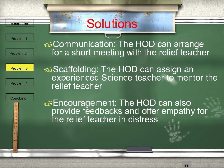 Introduction Problem 1 Problem 2 Problem 3 Problem 4 Conclusion Solutions /Communication: The HOD