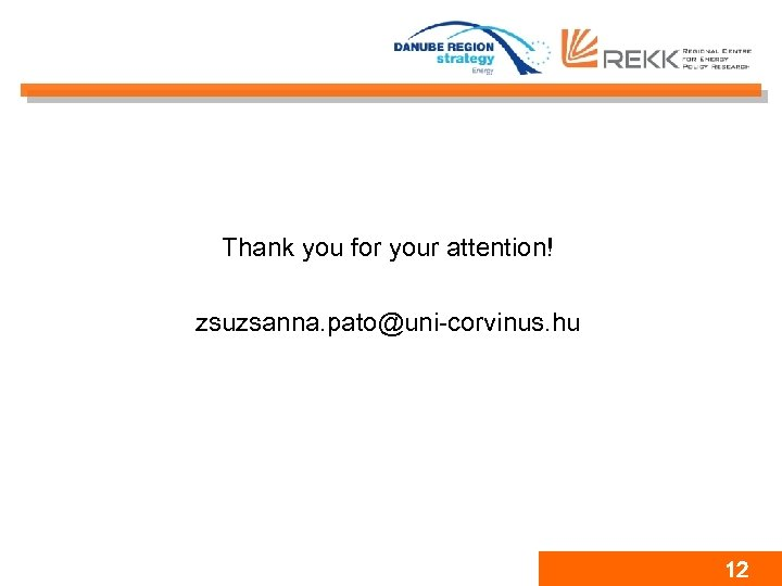 Thank you for your attention! zsuzsanna. pato@uni-corvinus. hu 12