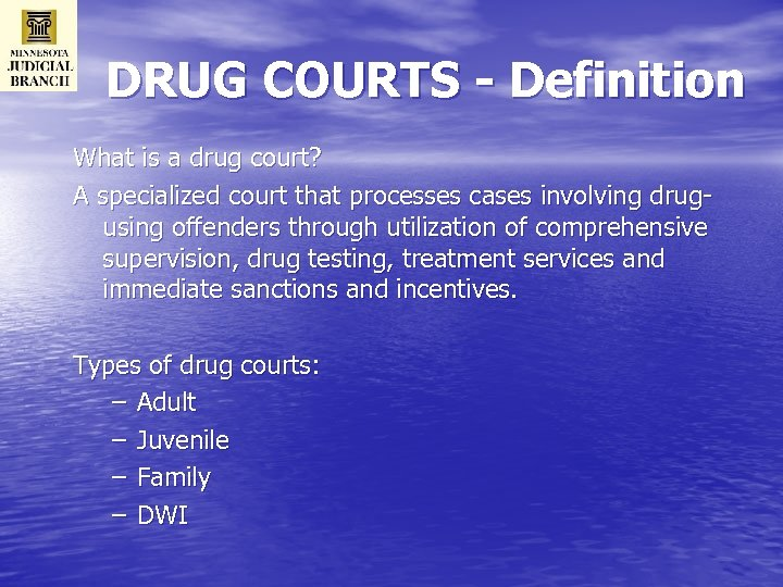 evaluation of a juvenile drug court program Ncsc   michigan juvenile drug court baseline and process evaluation 2   page acknowledgements the national center for state court's (ncsc) project team gratefully.