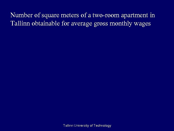 Number of square meters of a two-room apartment in Tallinn obtainable for average gross