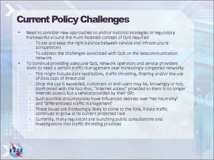 Current Policy Challenges • • Need to consider new approaches to anchor national strategies