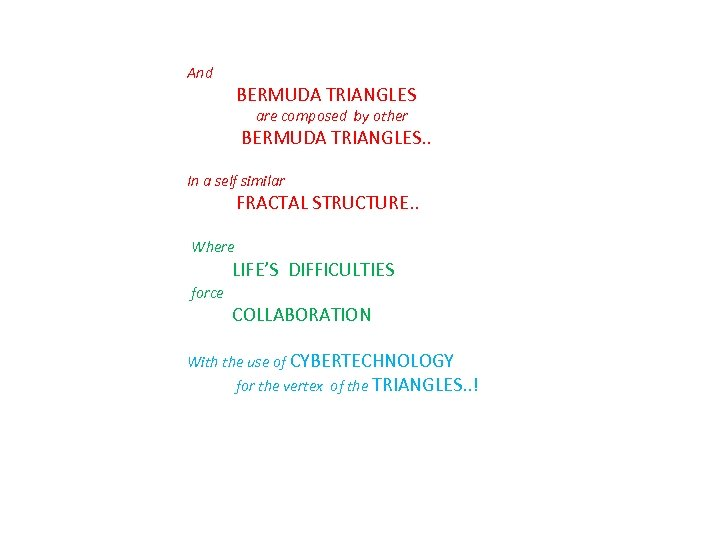 And BERMUDA TRIANGLES are composed by other BERMUDA TRIANGLES. . In a self similar