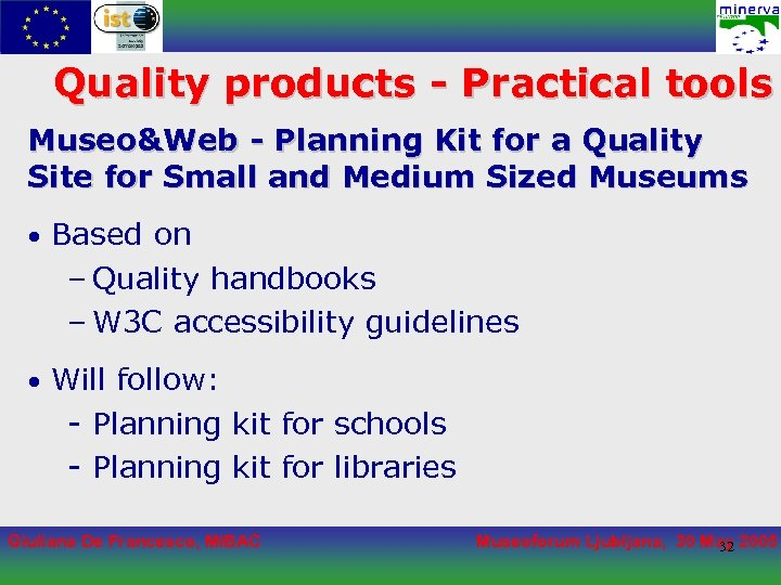 Quality products - Practical tools Museo&Web - Planning Kit for a Quality Site for