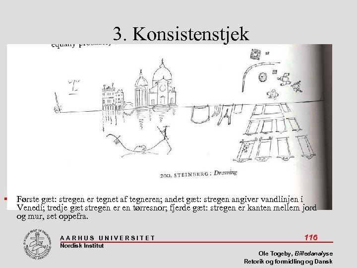 3. Konsistenstjek Første gæt: stregen er tegnet af tegneren; andet gæt: stregen angiver vandlinjen