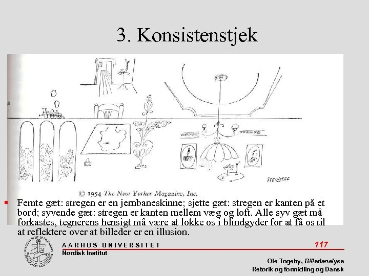 3. Konsistenstjek Femte gæt: stregen er en jernbaneskinne; sjette gæt: stregen er kanten på