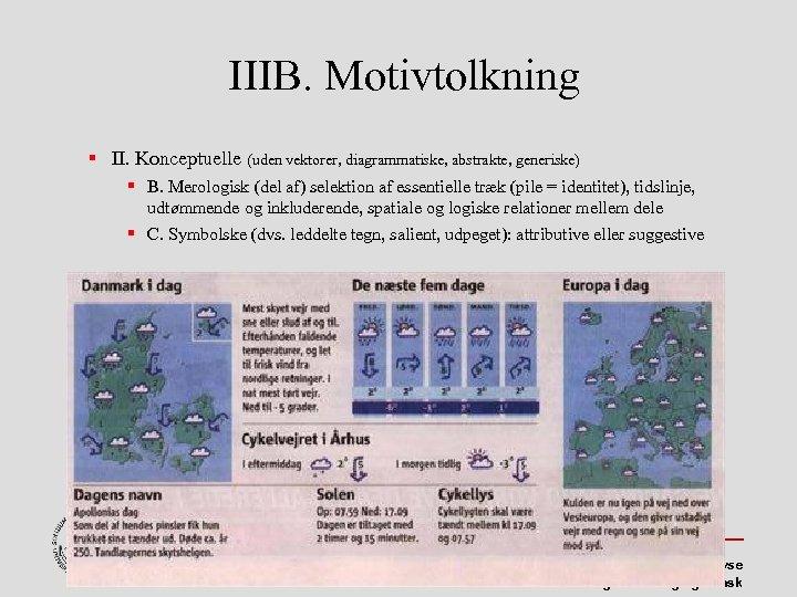 IIIB. Motivtolkning II. Konceptuelle (uden vektorer, diagrammatiske, abstrakte, generiske) B. Merologisk (del af) selektion