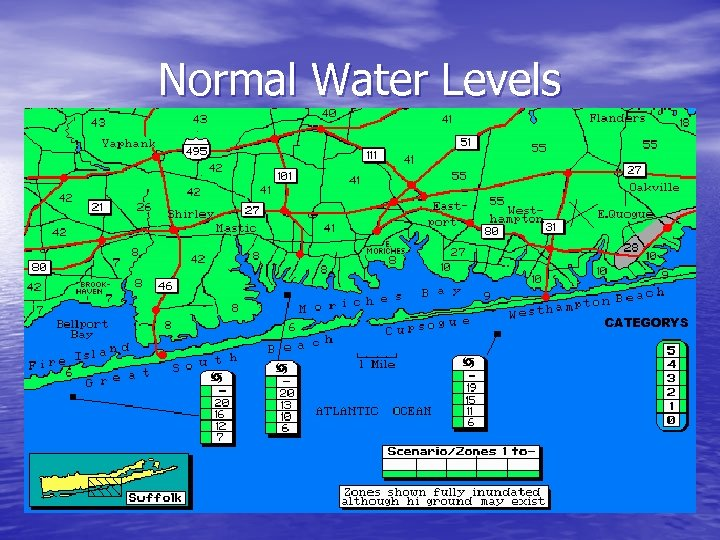 Normal Water Levels CATEGORYS