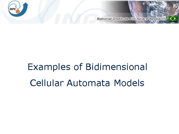 Examples of Bidimensional Cellular Automata Models