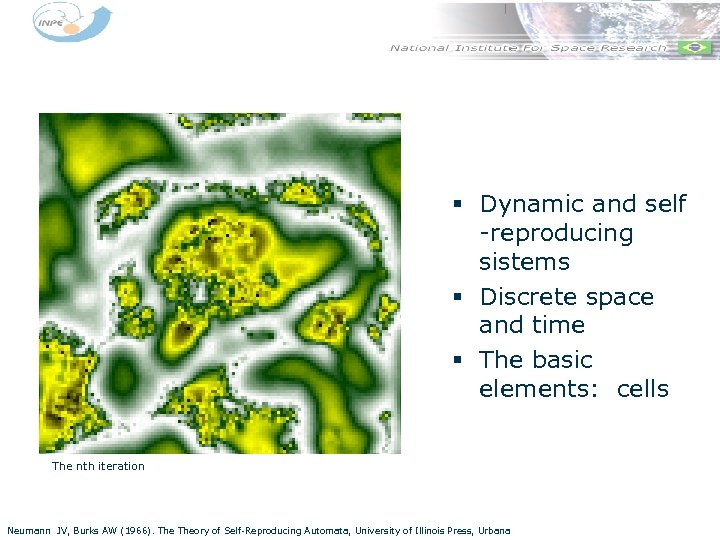 § Dynamic and self -reproducing sistems § Discrete space and time § The basic