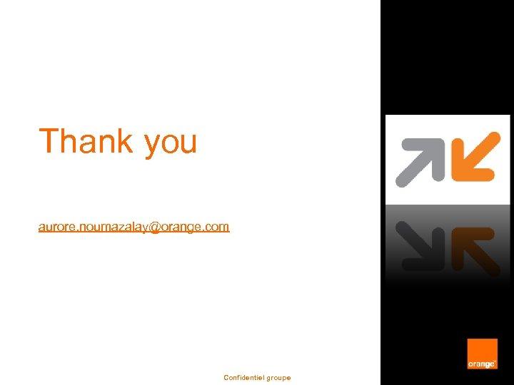 Thank you aurore. noumazalay@orange. com Confidentiel groupe