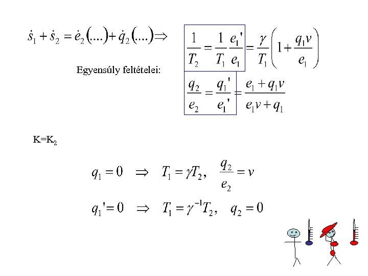 Egyensúly feltételei: K=K 2