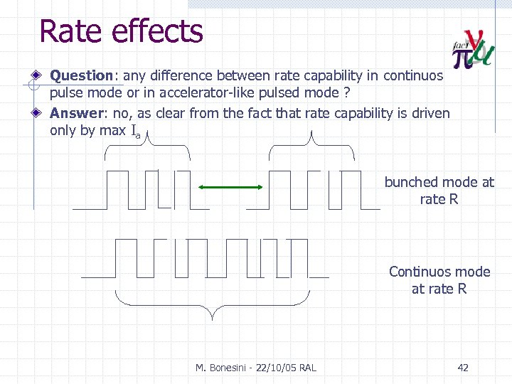 Rate effects Question: any difference between rate capability in continuos pulse mode or in