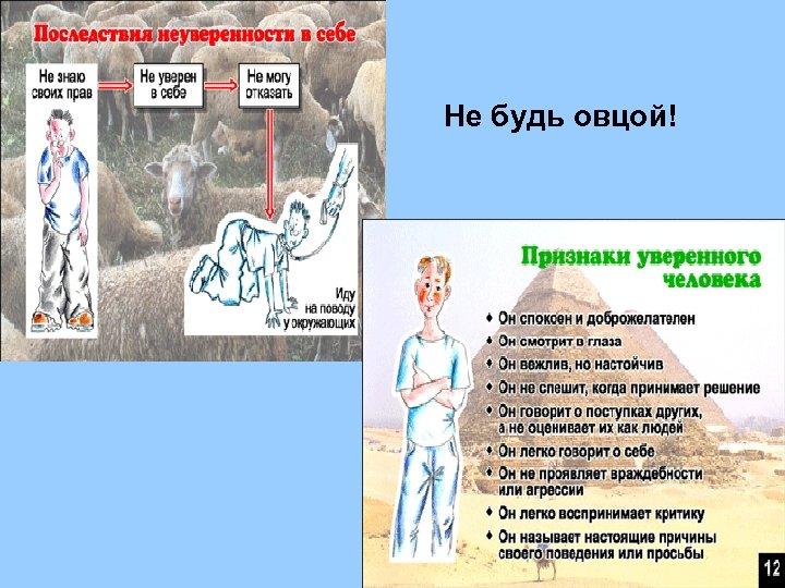 Не будь овцой!