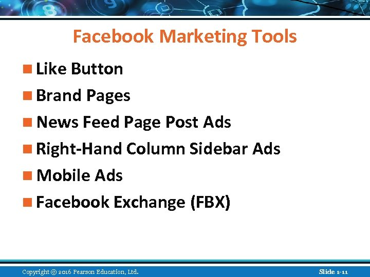 Facebook Marketing Tools n Like Button n Brand Pages n News Feed Page Post