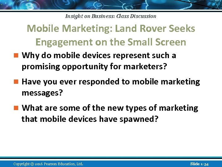 Insight on Business: Class Discussion Mobile Marketing: Land Rover Seeks Engagement on the Small