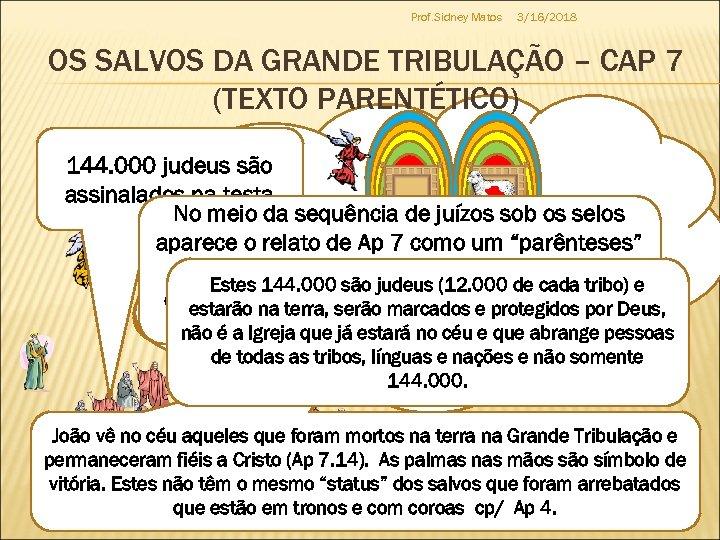 Prof. Sidney Matos 3/16/2018 OS SALVOS DA GRANDE TRIBULAÇÃO – CAP 7 (TEXTO PARENTÉTICO)