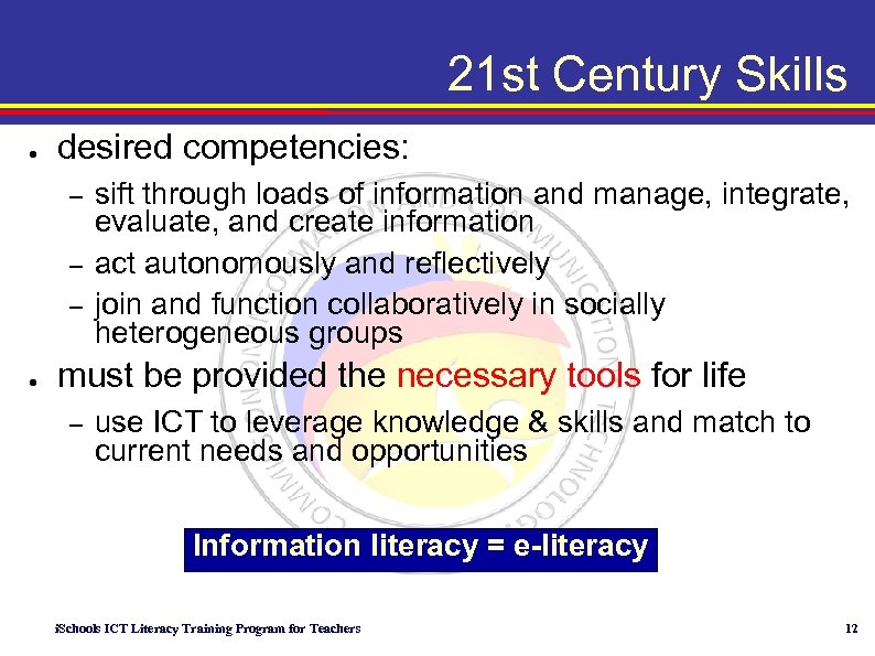 communication technology in the 21st century In the 21st century educators must create a curriculum that will help students connect with the world and understand the issues that our world faces schools in the 21st century will become nerve centers, a place for teachers and students to connect with those around them and their community.