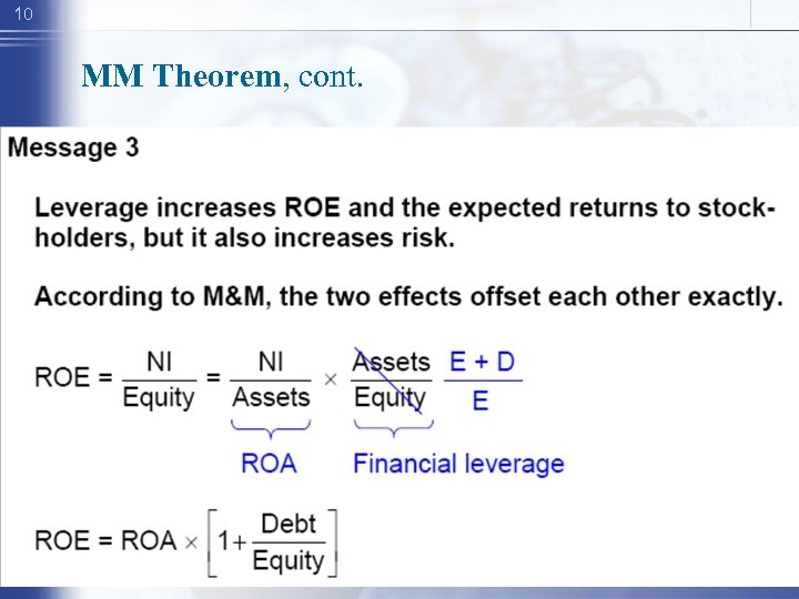 10 MM Theorem, cont.