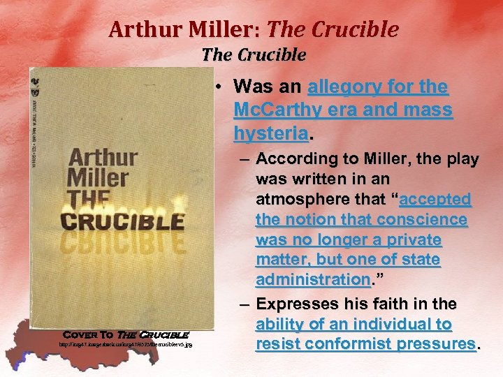 the themes of survival and hysteria in the crucible a play by arthur miller Buy a cheap copy of the crucible book by arthur miller a haunting examination of groupthink and mass hysteria in a rural community i believe that the reader will discover here the essential nature of one of the strangest and most awful chapters in human history, arthur miller wrote in an introduction.