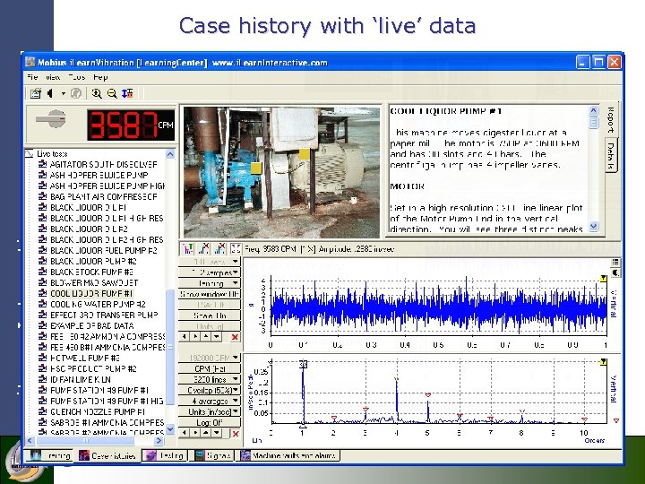 i. Learn. Interactive Case history with 'live' data