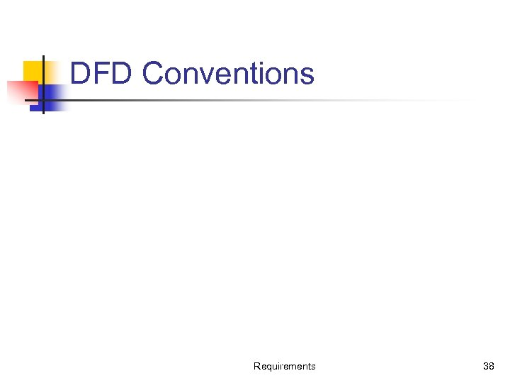 DFD Conventions Requirements 38