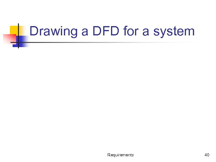 Drawing a DFD for a system Requirements 40