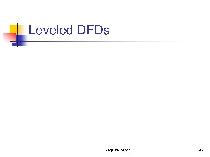 Leveled DFDs Requirements 42