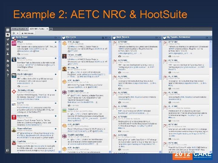 Example 2: AETC NRC & Hoot. Suite
