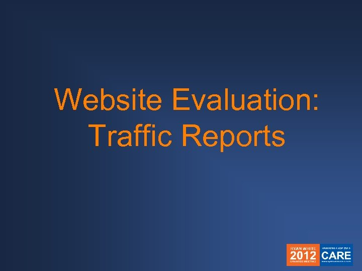 Website Evaluation: Traffic Reports