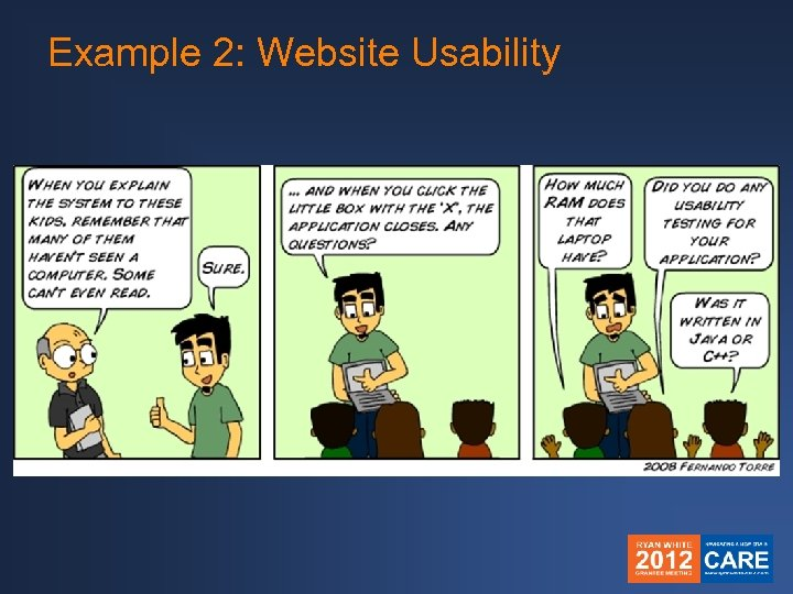 Example 2: Website Usability