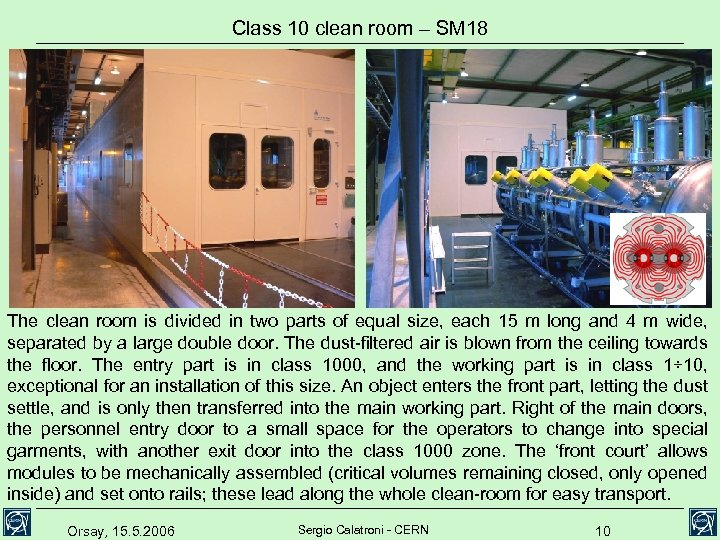 Class 10 clean room – SM 18 The clean room is divided in two