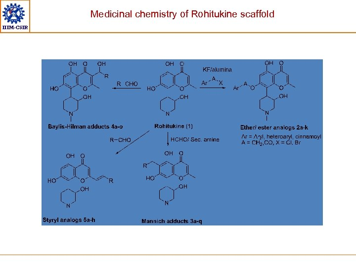 Medicinal chemistry of Rohitukine scaffold IIIM-CSIR