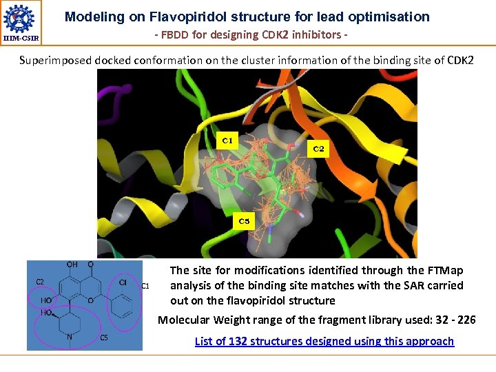 Modeling on Flavopiridol structure for lead optimisation - FBDD for designing CDK 2 inhibitors