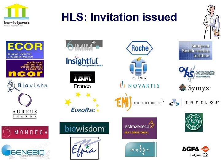 HLS: Invitation issued CHU Nice France Belgium 22