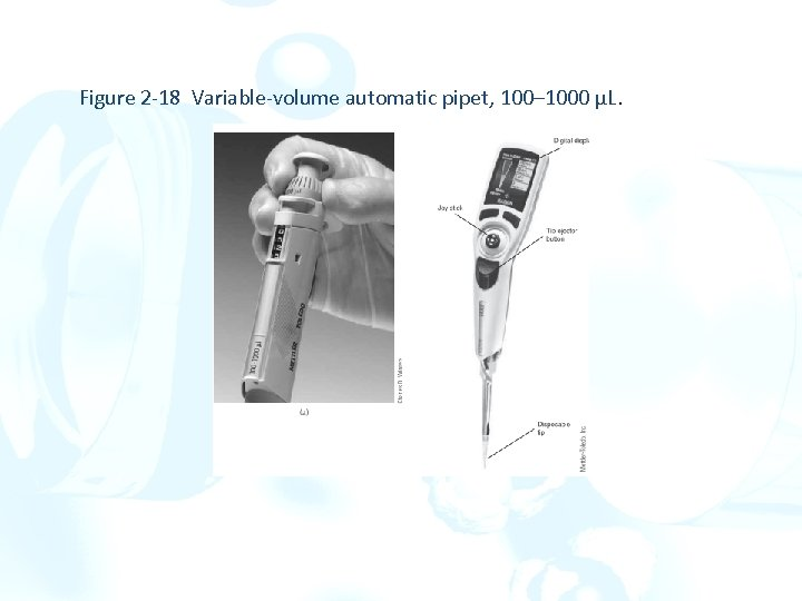 Figure 2 -18 Variable-volume automatic pipet, 100– 1000 µL.