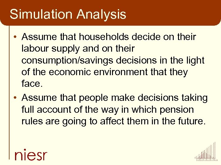 Simulation Analysis • Assume that households decide on their labour supply and on their