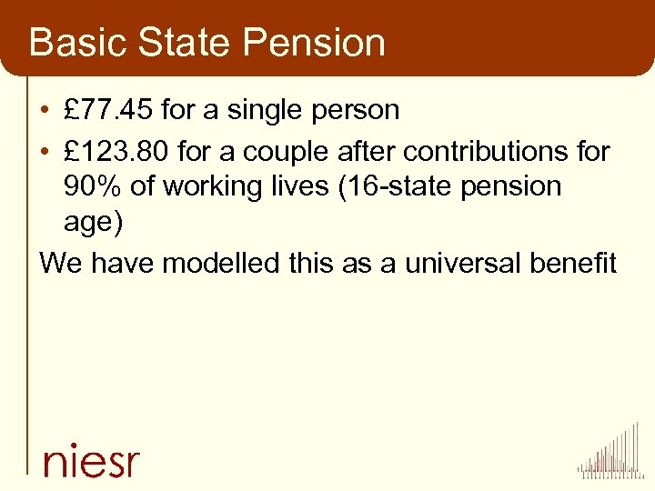 Basic State Pension • £ 77. 45 for a single person • £ 123.
