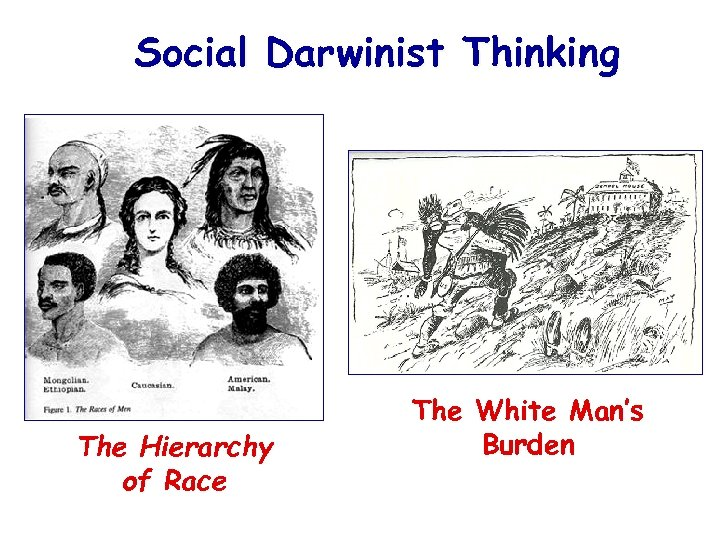 Social Darwinist Thinking The Hierarchy of Race The White Man's Burden