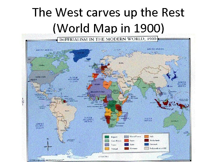 The West carves up the Rest (World Map in 1900)