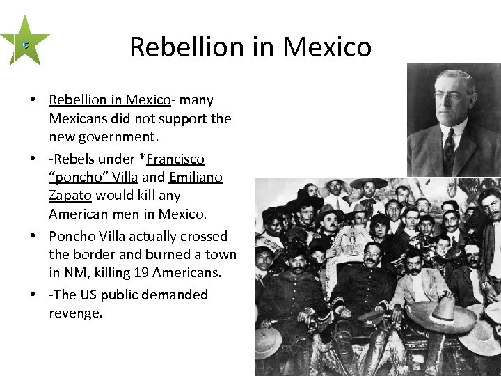 c Rebellion in Mexico • Rebellion in Mexico- many Mexicans did not support the