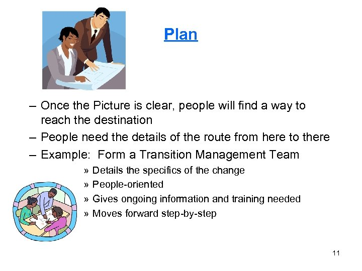 Plan – Once the Picture is clear, people will find a way to reach
