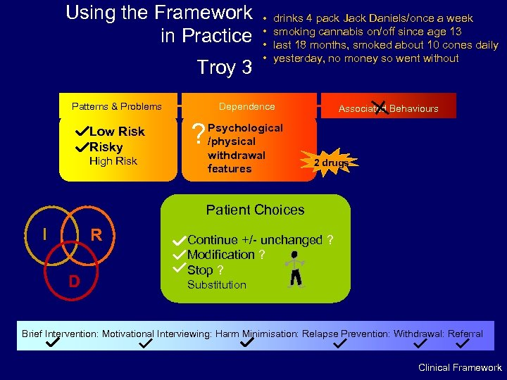 Using the Framework in Practice Troy 3 Patterns & Problems Low Risky High Risk