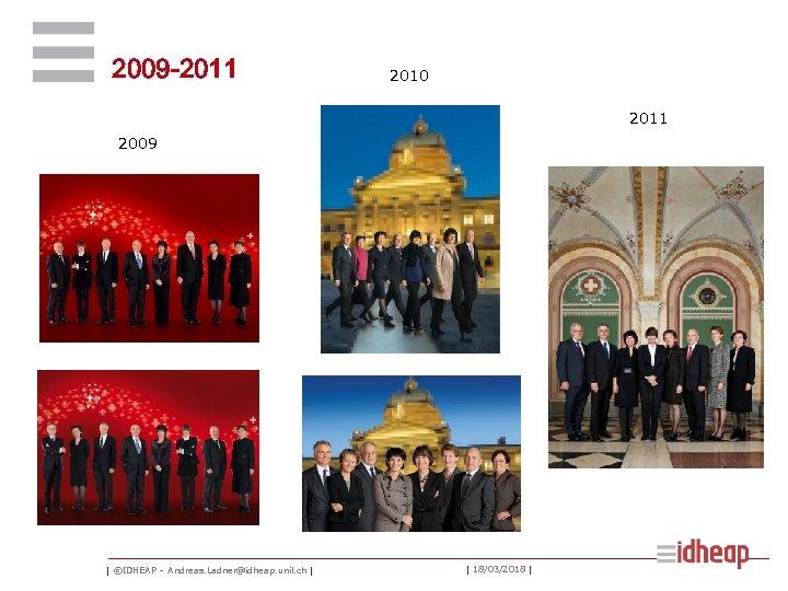 2009 -2011 2010 2011 2009 | ©IDHEAP – Andreas. Ladner@idheap. unil. ch | |