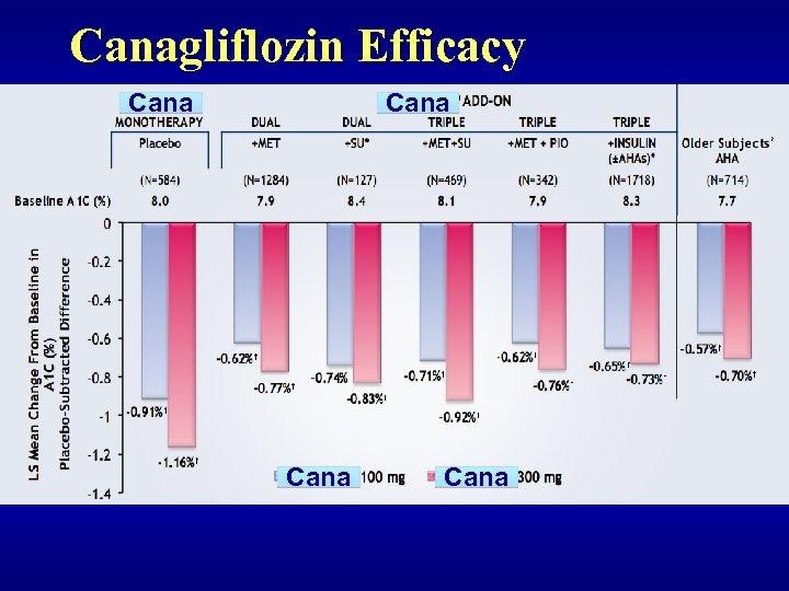 Canagliflozin Efficacy Cana