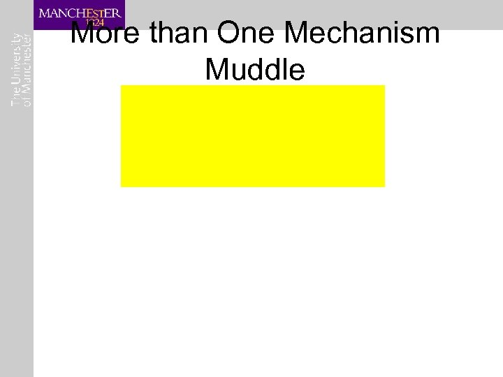 More than One Mechanism Muddle