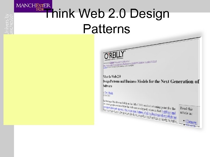 Think Web 2. 0 Design Patterns