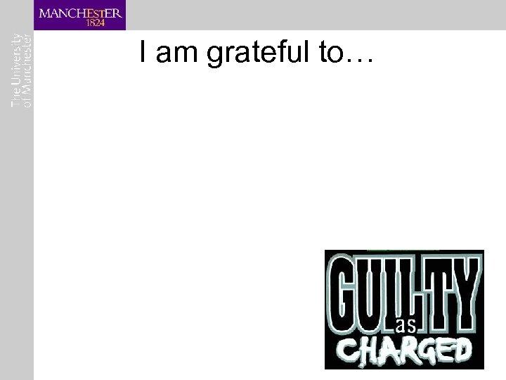 I am grateful to…