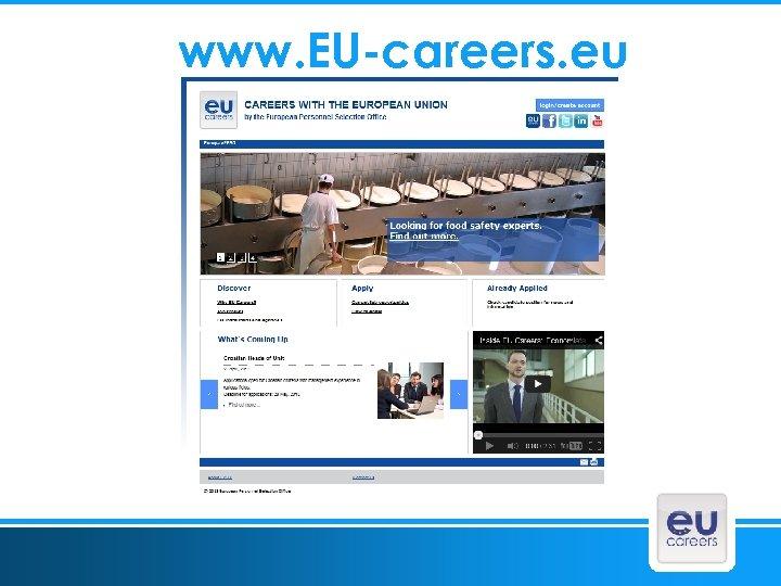wwww. EU-careers. eu