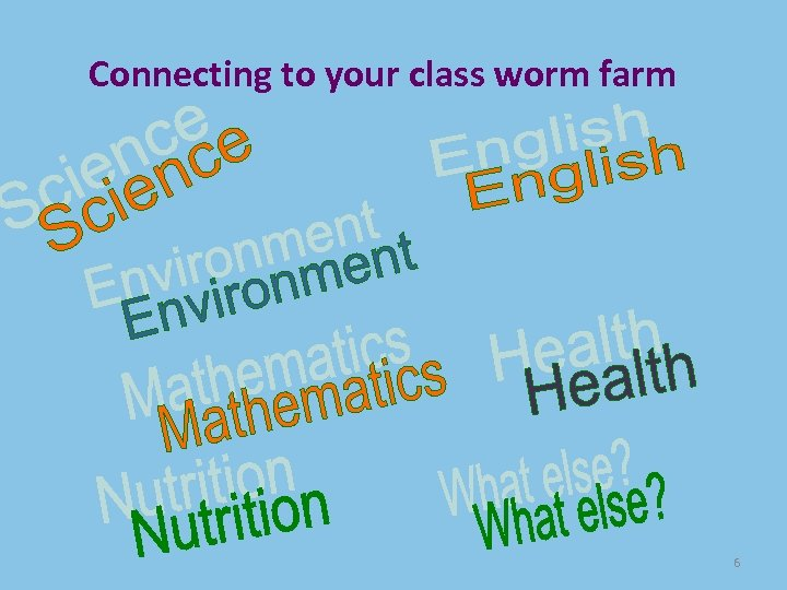 Connecting to your class worm farm 6