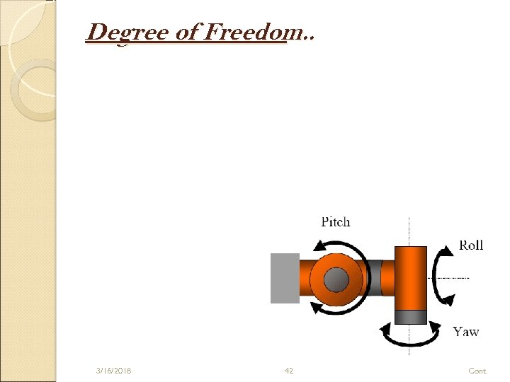 Degree of Freedom. . 3/16/2018 42 Cont.